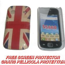 Pellicola+custodia BACK COVER RIGIDA UK VINTAGE per Samsung Galaxy Gio S5660