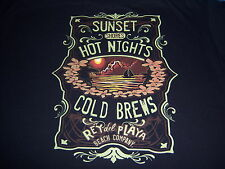 SUNSET SHORES BEACH t shirt by GEORGE -- tropical ISLAND exotica -- NEW -- (XL)
