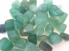 ONE GREEN FLUORITE Tumbled Stone 20-25mm QTY1 Healing Crystal Vertigo Third Eye