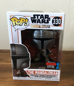 Funko Pop Star Wars The Mandalorian #330 NYCC Fall Convention in Pop Stack