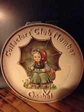 Goebel Hummel Collectors' Club Member Plaque - 1978 Special Edition #2 - Hum 690