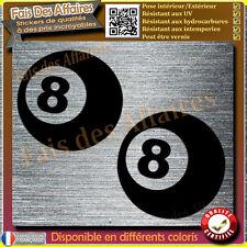 sticker autocollant  eight ball boule numéro 8 billard decal chance lucky