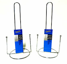 2 Pack Paper Towel Holders Countertop Self Standing Metal Organizer