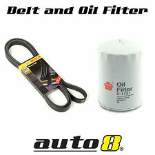 Multi Drive Belt & Oil FIlter suits Ford Falcon BA 6 Cyl Barra 4.0L 2002 - 2005
