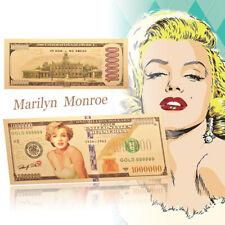 Art Crafts Gold Foil Souvenirs Monroe Estilo Sexy Colección de billetes Regalo