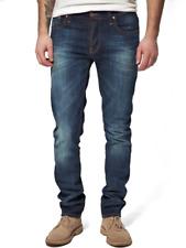 Nudie Herren Slim Fit Used Look Stretch Jeans Hose | Grim Tim Org. White Knee