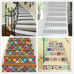 13pcs Brick Staircase Stair Riser Stickers Wall Decals Home Decor Self-adhesive