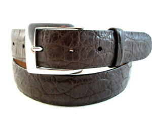 "NEW Allen Edmonds ""AMERICAN ALLIGATOR"" Dress Belt  #34807 Size 36  BROWN   (501)"