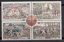 TIMBRE bloc MONACO OBL N° 624 / 625 / 626 / 627   CENTENAIRE DU FOOTBALL