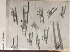 f1a ephemera 1919 picture 2 page folded german aeroplanes of 1918