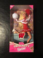 University Of Wisconsin Barbie Doll 1996 Cheerleader Nrfb