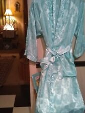 Look! Sale Now! Victoria Secret Soft as Silk Blue Ice Chiffon Robe S-PS $6.99