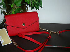 Michael Kors Red Leather Clutch Wallet/Cross Body Phone Bag/Purse new Kors Bag