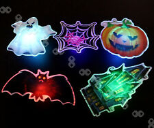 Set of LED Light Up Hanging Clip Canvas Halloween Pumpkin Scene Wall Home Decor