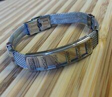 "Stainless Steel  Wristband Bracelet for Men Fashion 8.3"""