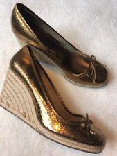 3378493373 coach Womens 8 Ireland Bronze Wedge Shoes