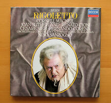 Verdi Rigoletto 411 880-1 Joan Sutherland MacNeil Sanzogno Decca 2xLP Casi Nuevo