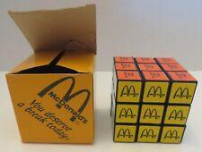 VINTAGE MCDONALDS RUBIX CUBE BRAIN TEASER PUZZLE GAME IN BOX