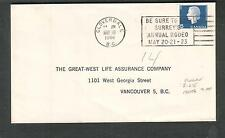 Canada 1966 cover Cloverdale BC/Surrey Annual Rodeo slogan cancel to Vancouver