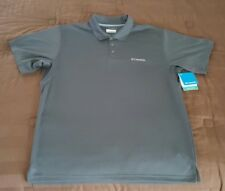 Columbia Men's New Utilizer Polo Shirt XLarge Tall Grill / Gray