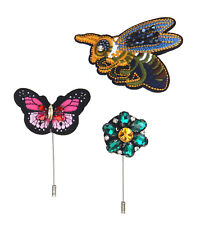 Butterfly 3er Set Brooches Ziernadeln Trend Ella Jonte Brooch Bee Flower +