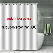 Print You Pattern, Custom You Picture, Waterproof Bath Shower Curtain Toilet Rug