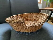 Small vintage wicker cat bed ideal for small dog or cat