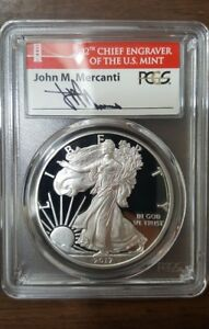 2017-S Proof Silver Eagle PCGS PR70 MERCANTI FIRST DAY OF ISSUE BRIDGE,congrats