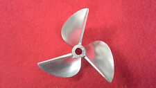 "CNC Aluminum propeller 7414 3 bladed 1/4"" shaft prop RC Boat"