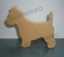 Westie dog shape in MDF (100mm x 18mm thick)/Wooden craft