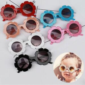 Kid Anti-UV Sunglasses Glasses Sun Eyewear Boys Flower Baby Girls Goggle