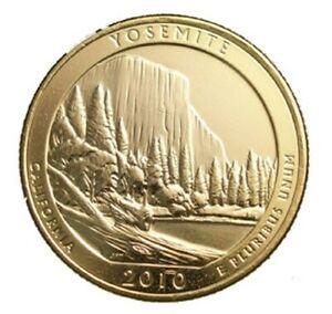 2010 YOSEMITE 24KT GOLD PLATED QUARTER (D)