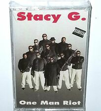 """STACY G SEALED One Man Riot CASSETTE Rap TAPE 91' G FUNK BOOMBOX nwa 2pac lp 12"""""""