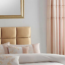 Catherine Lansfield Enya Pencil Pleat Curtains, Gold, 66 x 72 Inch