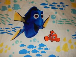 Disney Finding NEMO DORY Fish MICROFIBER Twin Flat Bed Sheet (Fabric)