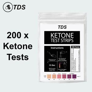 200 x Ketone Test Strips - KETO Urine Tests - Ketosis Ketostix Paleo