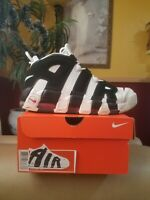 Nike Air More Uptempo Pippens Mens size 10 White Black Retro Basketball shoes
