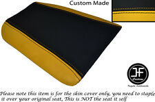Negro y amarillo se ajusta Cagiva Mito personalizado de vinilo 125 1990-1994 Trasero Cubierta de asiento solamente