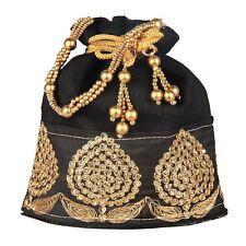 Indian Women Bridal Wedding Ethnic Purse Bead Evening Party Bag Clutch Potli Bag