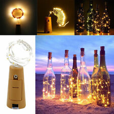 15/20 LED Copper Wire Wine Bottle Cork Battery Xmas Fairy String Lights AU