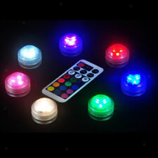10x Waterproof Submersible LED Light with Controller for Pond Party Wedding Vase