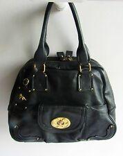 EMMA FOX Chic Design Gorgeous Classic Black Large Leather Shoulder Bag