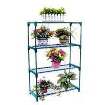 4 Tier Steel Mini Flower Rack Garden Greenhouse Staging Shelving Plant Stand New