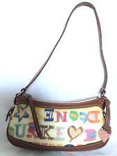 DOONEY & BOURKE Leather Trim Shoulder Bag / Handbag