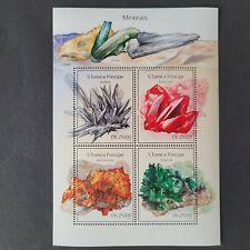 SoaTome&Principe 2014 /Minerals - Stibnite,Rodochrosite.. / 4v minisheet mnh