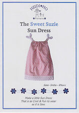 SUN DRESS PATTERN by HEIDI HO PATTERNS - THE SWEET SUZIE SUN DRESS - 3M - 8 YRS