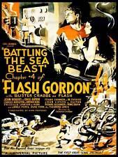Película de serie FLASH GORDON luchando Mar Bestia Sci Fi EE. UU. impresión de arte poster CC443