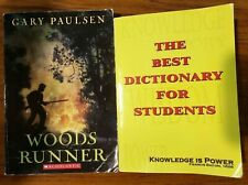 2 Books The Best Dictionary For Students & Woods Runner By Gary Paulsen