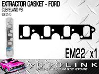 PERMASEAL EM22 EXTRACTOR GASKET SUIT FORD CLEVELAND V8 302 351 2V FALCON MUSTANG