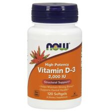 NOW Foods Vitamin D 2000 IU - 120 Softgels